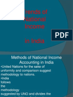 Trend of National Income in India 1