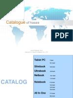 Hasee Catalogue 2013