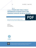 Water the Case of Public and Private Provision in Dar Es Salaam