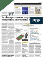 Escolares Peruanos Se Preparan Para Competencia Internacional en Arizona