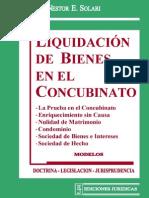 liquidación de bienes en el concubinato