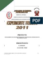 Expediente Tecnico Ayacucho 31 Marzo 2010