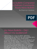 My News Bulletin Compared to a Oldham Community