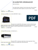 Catálogo de Cajas htpc torres mediacenter