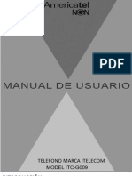 Manual Telefono Itelcom Model Itc-G009