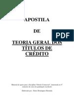 TITULOS de CREDITO - Apostila de Teoria Geral