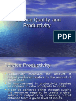 Service Quality and Productivity