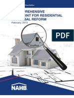 NAHB Blueprint for Residential Appraisal Reform