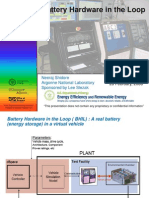 Battery Hardware in the Loop