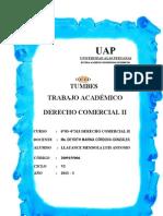 Trabajo Academico Derecho Comercial II