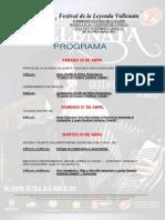 Programa Del 46 Festival de La Leyenda Vallenata 2013