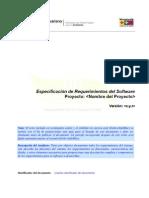 Especificación de Requerimientos del Software