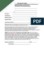 Sealed Bid Form 09-85