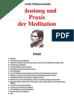 Unglaublichkeiten.com - Swami Omkarananda - Bedeutung Und Praxis Der Meditation