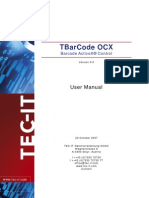 TBarCode OCX 8.0 User Manual