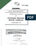 TM 9-2800  1943 STANDARD MILITARY MOTOR VEHICLES 1 SEPTEMBER 1943