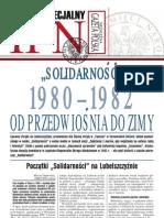 """""""Solidarność"""" 1980-1982. Od przedwiośnia do zimy - """"Niezależna Gazeta Polska"""", 3 sierpnia 2007"""