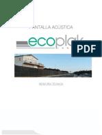 Pantalla Acustica Ecoplak Innova Memoria Tecnica