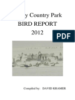 Priory Bird Report 2012 - Compiled by David Kramer