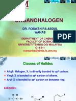 Organohalogen Notes