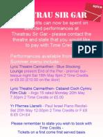 Theatrau Sir Gar - performances