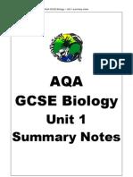 Aqa Gcse Biology Unit 1 Summary Notes