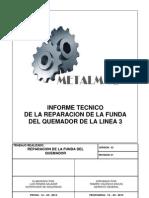 Informe Tecnico Funda Del Quemador