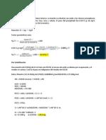 Cálculos Gravimétrico por precipitación y volatilización