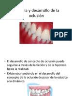 Historia y desarrollo de la oclusión p ortopaoch