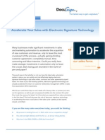 Accelerate Sales With Electronic Signature Technology