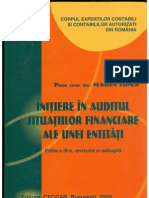 Initiere in Auditul Situatiilor Financiare Ale Unei Entitati Marin Toma 2009 PdfTK