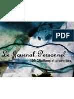 106 Citations Et Proverbes
