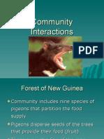 Community Interactions Spr 2009