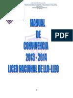 Manual de Convivencia 2013 Liceo Nacional