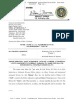 Johnson - Bk Chapter 7 Asset Doc 67 Filed 17 Apr 13