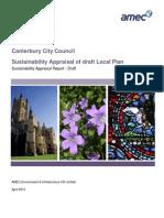 2013-04 Local Plan Draft Sustainability Appraisal
