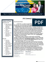 2012 summary prayer letter