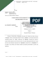 Johnson - Bk Chapter 7 Asset Doc 63 Filed 01 Apr 1313