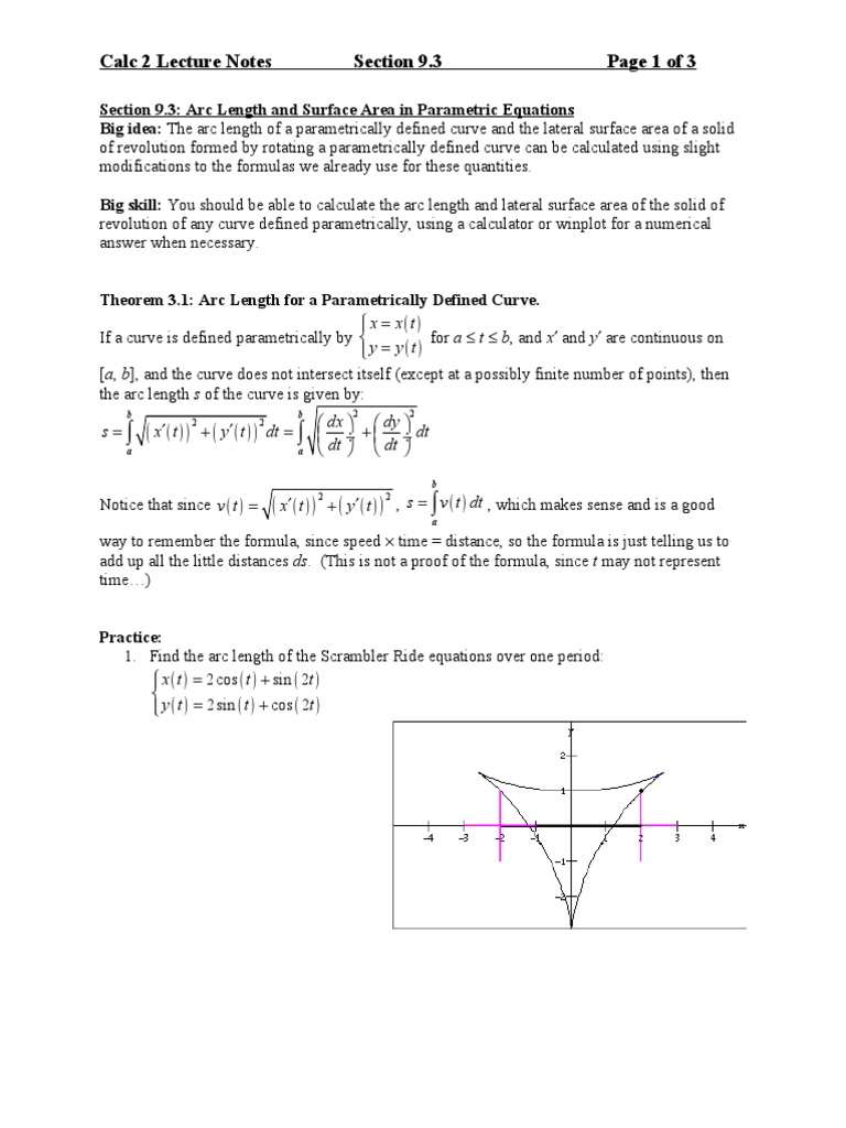 Arclength Calc Iii Evaluating Surface Integral Ex: Find The Surface Area
