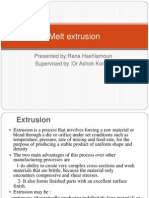 Melt Extrusion Presentation