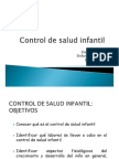 Control de Salud Infantil