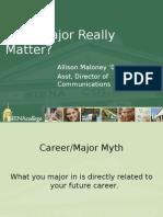Does Major Really Matter?