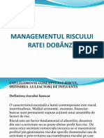 MANAGEMENTUL RISCULUI RATEI DOBÂNZII