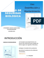CABINAS DE SEGURIDAD BIOLÓGICA