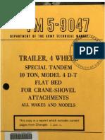 Tm 5-9047 Trailer Flat Bed
