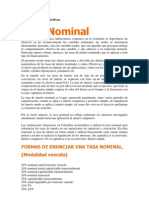 Asas Nominales y Efectivas