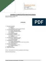 Donnees Alimentation Photovoltaique
