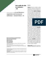 Teixeira, Et Al. Estado Nutricional e Estilo de Vida Em Vegetarianos e Onivoros