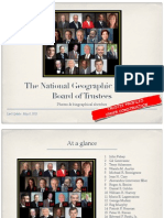 The National Geographic Society's Board of Trustees