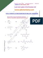 IUPAC Nomenclature Exercises in Organic Chemistry